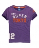 Superdry Super Tokyo Slouch Crew Purple