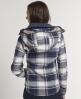 Superdry Highland Hooded Shirt Blue