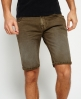 Superdry Worn Wash Jean Shorts Green