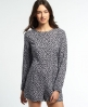 Superdry Gathered Bell Sleeve Playsuit Schwarz