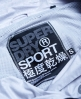 Superdry Gym Funnel Neck Shell Hooded Jacket Light Grey