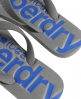 Superdry GT Flip Flops Dark Grey