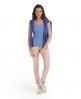 Superdry Lace Rib Vest Top Blue