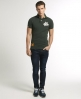 Superdry Twist Yarn Pique Polo Green