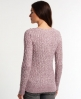 Superdry Croyde Twist Cable Crew Neck Jumper Red