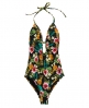 Superdry Aloha Pineapple Swimsuit  Black