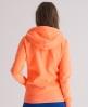 Superdry Orange Label Zip Hoodie Orange