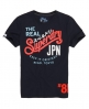 Superdry Tri Colour T-shirt Navy