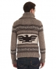 Superdry Big Zip Buffalo Knit Brown