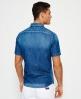 Superdry Slim Biker skjorte Blå