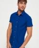 Superdry Schmales Beach Side Hemd Blau
