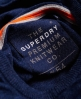 Superdry Orange Label Knit Hoodie Navy