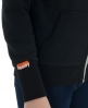 Superdry Orange Label Zip Hoodie Black