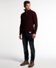 Superdry Pull henley Jacob Rouge