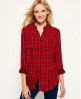 Superdry Chemise à carreaux Double Cloth Rouge