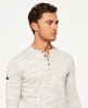 Superdry Top Orange Label Grandad Gris