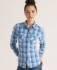 Superdry Lumberjack Patch Shirt Blue