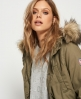 Superdry Heavy Weather Rookie Fishtail Parka Coat Green