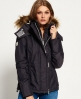 Superdry Hooded Fur Sherpa SD-Wind Attacker Jacket Dark Grey