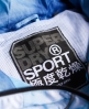 Superdry Gym Laufjacke Blau