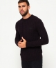 Superdry Harlo Cable Crew Jumper Purple