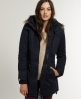 Superdry Hooded Super Windcheater Coat Navy