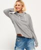 Superdry Orange Label Luxe Loopback Cropped Hoodie Grey