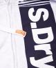 Superdry Sport Vertical hættetrøje med lynlås Lysegrå