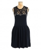 Superdry Lacy Bead Skater Dress Navy