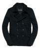 Superdry Blockade Bedford Pea Coat Black