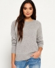 Superdry Downtown Raglan Knitted Jumper  Light Grey