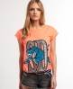 Superdry Tigers Beach T-shirt Orange