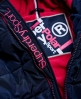 Superdry Cazadora con capucha de pelo Sports Puffer Marino