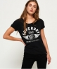 Superdry T-shirt slim boyfriend 1954 Brand Goods Noir