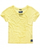 Superdry Daisy Burnout T-Shirt Gelb