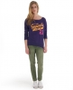 Superdry Burn Out T-shirt Purple
