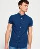 Superdry London Loom kortærmet skjorte Blå