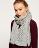 Superdry North Cable Scarf Grey