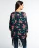 Superdry Festival Print Kimono-Jacke Marineblau