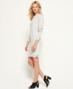Superdry Gestepptes Nordic Kleid  Hellgrau
