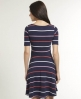 Superdry Swingout Stripe Dress Blue