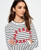 Superdry Le Marais Stripe Knit Jumper Navy