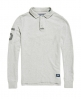 Superdry Academy Rugby Long Sleeve Polo Shirt  Grey