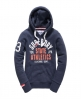 Superdry State Athletics Trackster Hoodie Navy