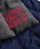 Superdry Cazadora de esquí con capucha Box Polar Elements Marino