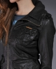 Superdry Ramona Leather Jacket Brown