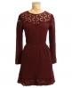 Superdry Tipi Gauze Dress Red