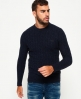 Superdry Harlo Cable Crew Jumper Navy