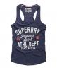 Superdry Trackster Vest Top Navy