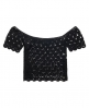 Superdry Prairie Daze Crochet Top Schwarz